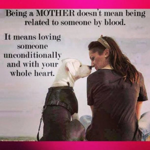 doesn't mean being related to someone by blood.....It means ...