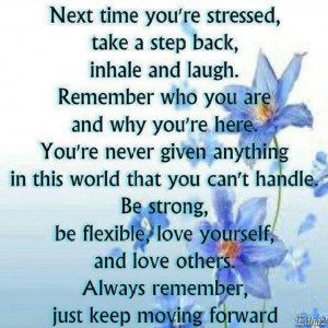 Next time you are stressed