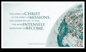 of missions poster the spirit of christ is the spirit of missions ...