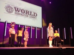 My photo of brave speakers on stage at the World Domination Summit
