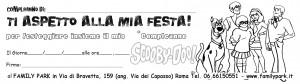 Scooby Doo 3 Inviti Compleanno