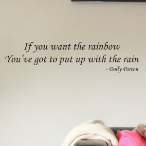 Details about Dolly Parton Rainbow Quote Wall Sticker - Bedroom Lounge ...