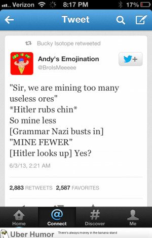 Holy shit… An intelligent Hitler joke I could show to my boss… wow ...