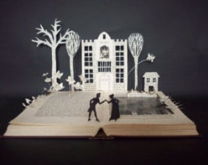 Book sculpture 'Arcadia' play by Tom Stoppard Book art OOAK book lover ...