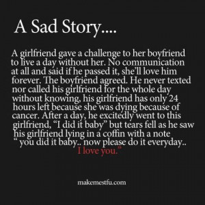 Sad Love Story On Helping a Loved One Move On