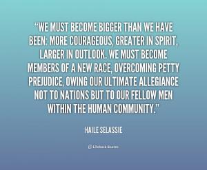Haile Selassie...