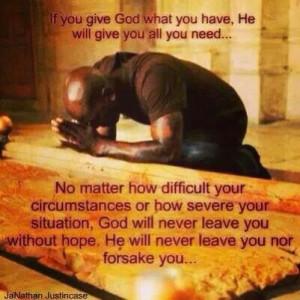 nothing like a praying man