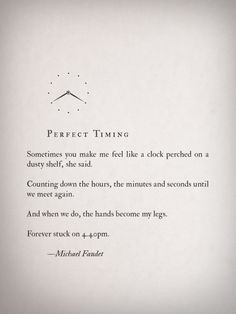 perfect timing by michael faudet more quotes poems michael faudet ...