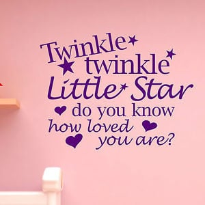 Wall-Art-Quote-Sticker-TWINKLE-Little-Star-Bedroom-Kid-Nursery-Boys ...