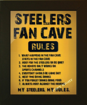 Steelers Man Cave Artwork
