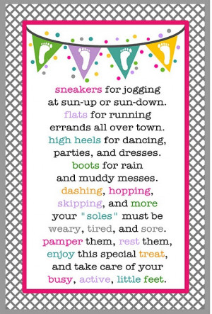 Pedicure Gift Basket Poem - this may be my front runner for an end of ...