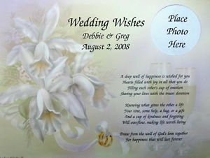 Personalized Wedding Wishes Poem Gift for Bride Groom | eBay