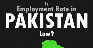 Is Employment rate in Pakistan low?