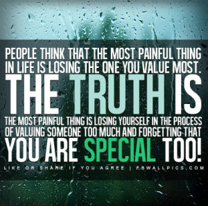 The Truth About The Most Painful Thing Quote Picture