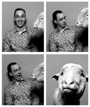 arrested development, buster, funny, photo booth, picture, sheep, show