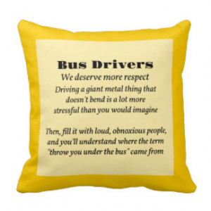 Bus Drivers Throw Pillows