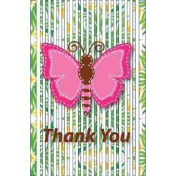 tropical_stripes_butterfly_thank_you_note_greeting.jpg?height=250 ...