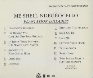 Me'Shell Ndegeocello Plantation Lullabies USA CD ALBUM 2-45333-A