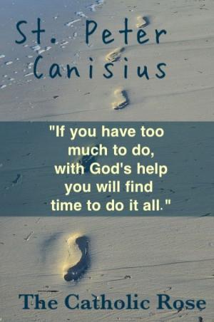 St. Peter Canisius...