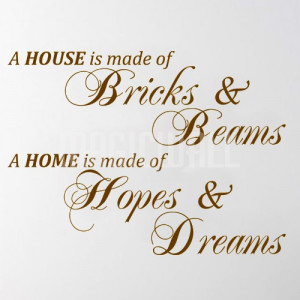 Home » Home Made Hopes Dreams - Wall Quotes - Wall Stickers Decals