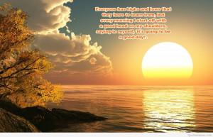 Amazing morning sun set image quote
