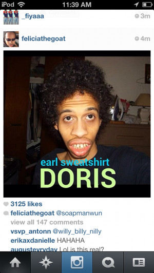 earl sweatshirt quotes odd future quote music hip earl missing t shirt ...