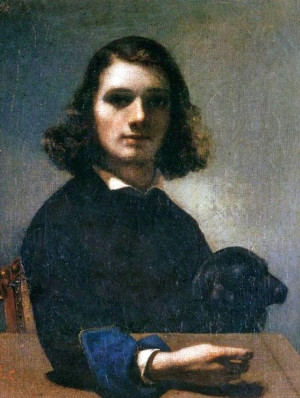 gustave courbet french artist 1819 1877 self portrait with black