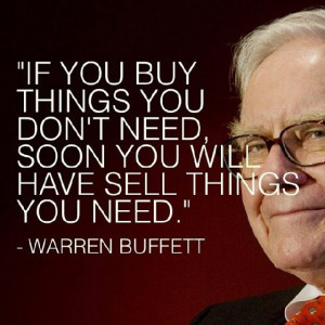Warren Buffett Quote on buying things