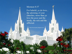 bet the Mormons just hate it when a passage from the Book of Mormon ...