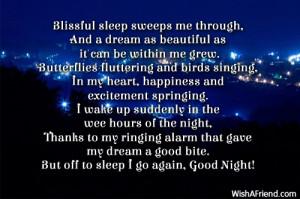 Blissful Sweet DreamsBlissful sleep sweeps