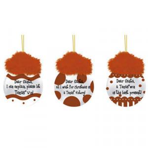 Texas Longhorns 3-Pack Team Sayings Ornaments