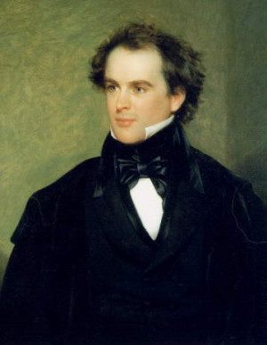 The young Nathaniel Hawthorne. Painting by Charles Osgood, 1840 ...