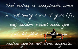 Loneliness Wallpaper With Quotes