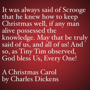 My Favorite Quotes from A Christmas Carol #50 – God Bless Us, Every ...