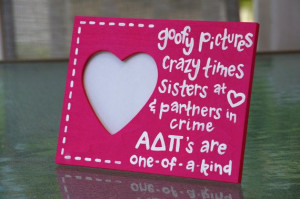 ADPi Sister Quote Frame by PaintingPrepster on Etsy, $9.00