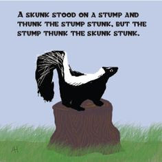 skunk tongue twister lunch note more funny things tongue twisters ...