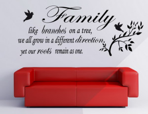 Family love quotes and sayings wall decals murals for living room wall
