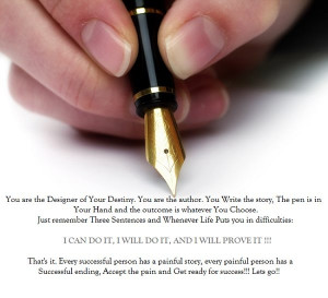 Quotes To Write On Your Hand Excellent quote by author