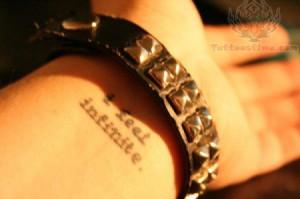 Feel Infinite - Literary Tattoo