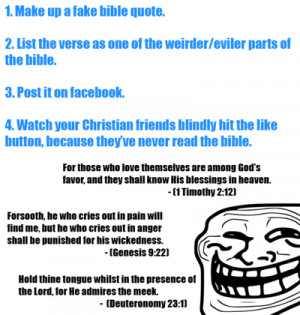 Facebook troll: Fake bible quotes