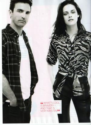 Kristen and Nicolas Ghesquiere in Marie Claire (UK) Nov 2012