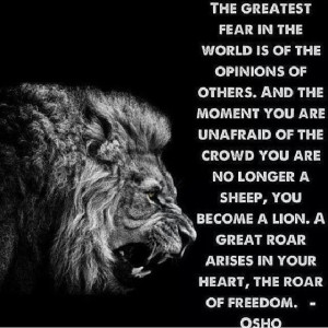 Osho ~ Fear of the opinions of others