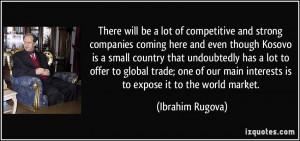 Ibrahim Rugova Quote