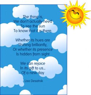 Good Morning Sunshine!   Good Things Going Around by Lisa Desatnik