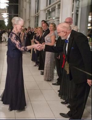 ... Margrethe II of Denmark at Aarhus Concert Hall on April 8, 2015 in