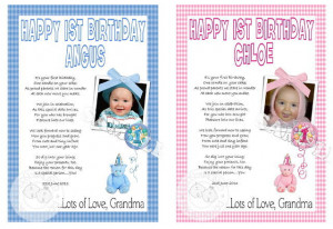 1st birthday poems