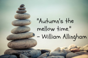 After the action and adventure of summer, autumn is a time for some ...