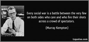 social war is a battle between the very few on both sides who care ...