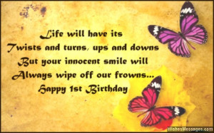 1st Birthday Wishes: First Birthday Quotes