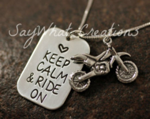 Dirt Bike Quotes For Girls Silver dirtbike necklace
